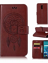 cheap -Case For LG LG Q7 Wallet / Card Holder / with Stand Full Body Cases Owl Hard PU Leather for LG Q7