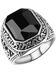 cheap -Men's Hollow Band Ring / Statement Ring / Ring - Resin Faith Vintage, European, Trendy 7 / 8 / 9 Black / Red For Daily / Going out