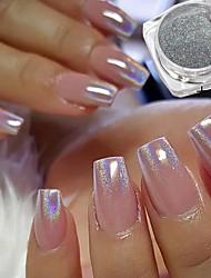 baratos -2pcs Dicas de unhas artificiais Purpurina Design Moderno / Luminoso arte de unha Manicure e pedicure Retro Festa de Casamento / Roupa Diária