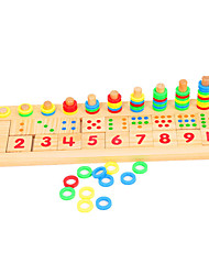 cheap -Montessori Teaching Tool Wooden Puzzle Education Wooden 1pcs Kid's Boys' Gift