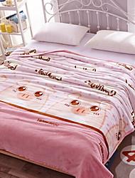 Недорогие -Коралловый флис, Активный краситель Геометрический принт Полиэфирный жаккард одеяла