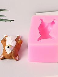 Недорогие -Инструменты для выпечки Силикон 3D в мультяшном стиле / Милый / Креатив Торты / Многофункциональный / Шоколад Квадратный Формы для пирожных 1шт