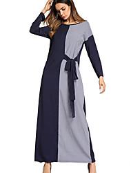 preiswerte -Damen Etuikleid Kleid Schachbrett Maxi