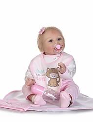 Недорогие -NPKCOLLECTION Куклы реборн Девочки 24 дюймовый Новорожденный как живой Очаровательный Безопасно для детей Взаимодействие родителей и детей Ручной корневой мохер Детские Девочки Игрушки Подарок