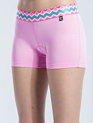 abordables -SANTIC Mujer Pantalones Acolchados de Ciclismo Bicicleta Pantalones Cortos Acolchados / Prendas de abajo Geométrico, Moda Morado / Rosa Ropa para Ciclismo / Elástico