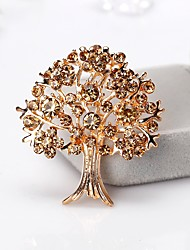 cheap -Women's Stylish Brooches - Tree of Life European, Fashion Brooch Brown / Red For Gift / Daily
