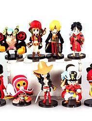 abordables -Figures Animé Action Inspiré par One Piece Monkey D. Luffy PVC 7 cm CM Jouets modèle Jouets DIY