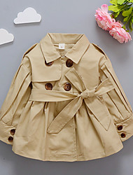 cheap -Baby Girls' Solid Colored Long Sleeve Jacket & Coat