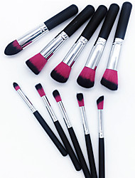 baratos -Conjunto - 10 Pincéis de maquiagem Profissional Conjuntos de pincel Escova de Fibra Artificial / Escova de Nailom Amiga-do-Ambiente / Profissional / Macio De madeira / bambu
