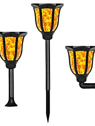 cheap -1pc 1 W Lawn Lights / Solar Wall Light New Design / Solar / Waterproof Warm Yellow 3.7 V Outdoor Lighting / Courtyard / Garden