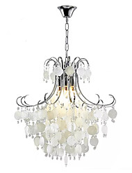 cheap -QIHengZhaoMing 4-Light Chandelier Ambient Light 110-120V / 220-240V, Warm White, Bulb Included