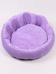 baratos -Macio Roupas para cães Camas Sólido Roxo / Rosa / Azul Cachorros / Gatos / Animais de Estimação
