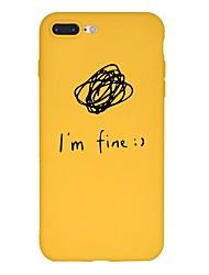 billiga -fodral Till Apple iPhone X / iPhone 8 Plus Mönster Skal Ord / fras / Tecknat Mjukt TPU för iPhone X / iPhone 8 Plus / iPhone 8