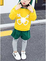 economico -Bambino / Bambino (1-4 anni) Da ragazza Con stampe / Monocolore / Collage Manica lunga Completo