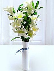 cheap -Artificial Flowers 1 Branch Classic Stylish Lilies Tabletop Flower