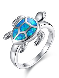 cheap -Women's Synthetic Opal Sculpture Statement Ring - Gold Plated Stylish, Unique Design, Classic 6 / 7 / 8 Silver For Halloween / New Year