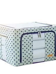 baratos -Poliéster Retângular Teste padrão geométrico Casa Organização, 1pç Caixas de Armazenamento