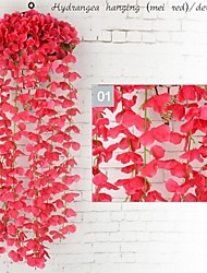 cheap -Artificial Flowers 1 Branch Wall-Mounted Stage Props / Modern / Contemporary Hydrangeas Wall Flower