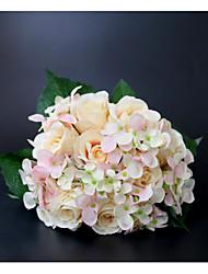 billige -Brudebuketter Buketter / Dekorationer Bryllup / Bryllupsfest Tørrede Blomster / Blonde / Flower & Bud 11-20 cm