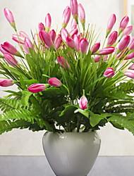 baratos -Flores artificiais 1 Ramo Clássico Pastoril Estilo Orquideas Flor de Mesa