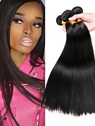 cheap -3 Bundles Malaysian Hair Straight Human Hair Gifts / Extension / Human Hair Extensions 8-28 inch Human Hair Weaves Machine Made Classic / Extention / Natural Black Natural Color Human Hair Extensions