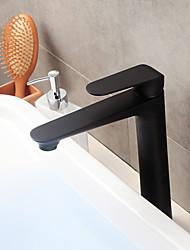 abordables -Robinet lavabo - Séparé Noir Set de centre Mitigeur un trou