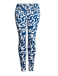cheap -Women's Slim Jeans Pants - Color Block / Camouflage High Waist