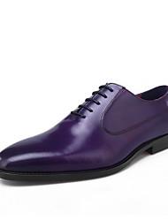 Недорогие -мужская комфортная обувь из воловьей кожи весна / лето оксфорды фиолетовый / кофе / коричневый