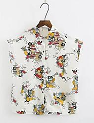 cheap -Women's Going out Shirt - Fruit Shirt Collar