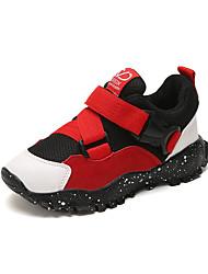 abordables -Garçon Chaussures Maille Automne hiver Confort Basket Marche pour Enfants Noir / Gris / Rouge
