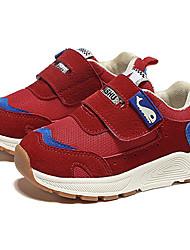 billige -Pige Sko Net Efterår vinter Komfort Sneakers Gang Spænde for Børn Sort / Rød / Lys pink