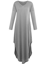 Недорогие -Жен. На выход С летящей юбкой Платье V-образный вырез Макси