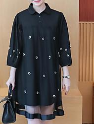 cheap -Women's Going out A Line Dress Shirt Collar
