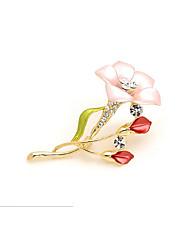 Недорогие -Жен. Стильные Броши Цветы Милая Элегантный стиль Брошь Бижутерия Пурпурный Назначение Свидание Для улицы