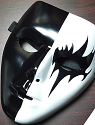 cheap -Holiday Decorations Halloween Decorations Halloween Masks Decorative / Cool black top and white bottom 1pc
