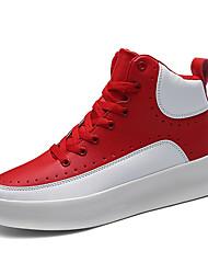 Недорогие -Муж. Искусственная кожа Наступила зима Удобная обувь Кеды Черный / Красный / Черно-белый