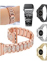 economico -Cinturino per orologio  per Fitbit Blaze / Apple Watch Series 4/3/2/1 Apple Cinturino sportivo Acciaio inossidabile Custodia con cinturino a strappo