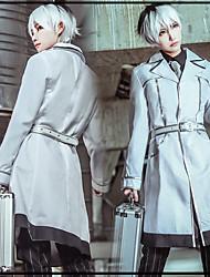 Недорогие -Вдохновлен Токио вурдалак Кен Kaneki Аниме Косплэй костюмы Косплей Костюмы В полоску / Аниме Пальто / Рубашка / Брюки Назначение Муж.
