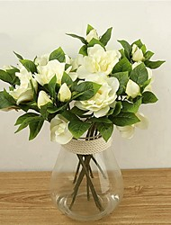 cheap -Artificial Flowers 2 Branch Classic / Single Stylish / Pastoral Style Gardenia Tabletop Flower