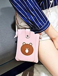 Недорогие -Жен. Мешки PU Мобильный телефон сумка Узоры / принт Розовый / Серый / Коричневый