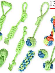 Недорогие -Жевательные игрушки Игрушка для очистки зубов Собаки Коты 13шт Войлок / Ткань Ткань
