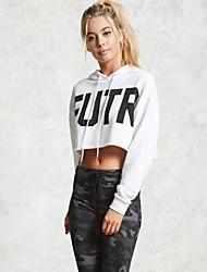 cheap -women's long sleeve slim hoodie - letter hooded