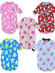baratos -bebê Para Meninas Estampado Meia Manga Roupa de Dormir