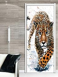 Недорогие -Дверные наклейки - 3D наклейки / Наклейки для животных Животные / Геометрия В помещении / Детская