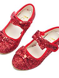 abordables -Fille Chaussures Matière synthétique Printemps & Automne Chaussures de Demoiselle d'Honneur Fille Chaussures à Talons Noeud / Scotch Magique pour Enfants Argent / Rouge / Rose / Soirée & Evénement