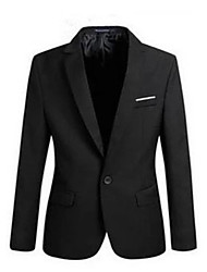 cheap -Men's Street chic Blazer-Solid Colored