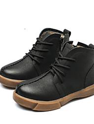 Недорогие -Мальчики Обувь Кожа Наступила зима Удобная обувь Ботинки для Черный / Желтый