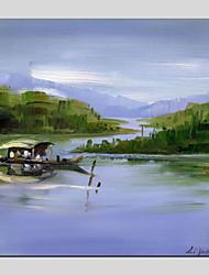 abordables -Pintura al óleo pintada a colgar Pintada a mano - Paisaje Tradicional Lona