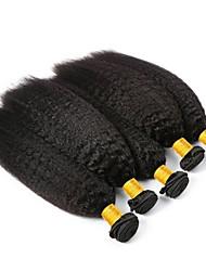 Недорогие -6 Связок Бразильские волосы Вытянутые Необработанные / Натуральные волосы Подарки / Косплей Костюмы / Человека ткет Волосы 8-28 дюймовый Естественный цвет Ткет человеческих волос