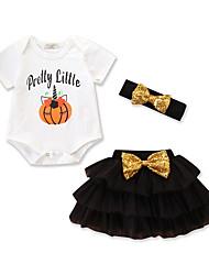povoljno -Dijete Djevojčice Print Kratkih rukava Komplet odjeće